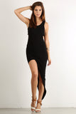 Asymmetrical Hi Lo Side Slit Glamour Dress-4