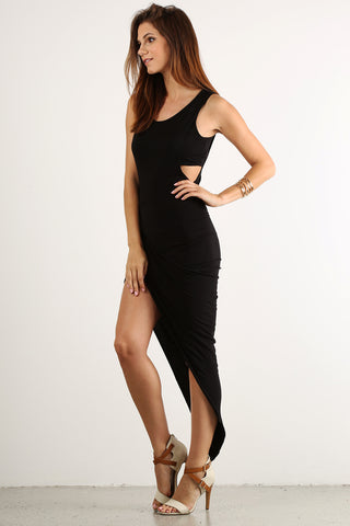 Asymmetrical Hi Lo Side Slit Glamour Dress-1