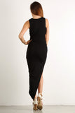 Asymmetrical Hi Lo Side Slit Glamour Dress-5
