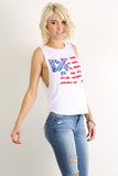 "Graphic Text ""Dream"" Stars & Stripes Tank Top-2"
