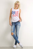 "Graphic Text ""Dream"" Stars & Stripes Tank Top-5"