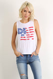 "Graphic Text ""Dream"" Stars & Stripes Tank Top-1"