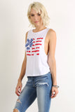 "Graphic Text ""Dream"" Stars & Stripes Tank Top-3"