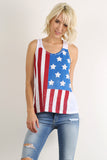 Rustic Stars & Stripes Racerback Tank Top-7
