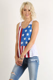 Rustic Stars & Stripes Racerback Tank Top-8
