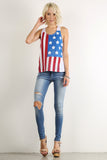 Rustic Stars & Stripes Racerback Tank Top-11