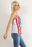 Rustic Stars & Stripes Racerback Tank Top-9