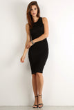 Seductive Shoelace Laced Up Back Midi Dress-3