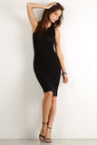 Seductive Shoelace Laced Up Back Midi Dress-4