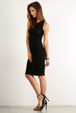 Seductive Shoelace Laced Up Back Midi Dress-5