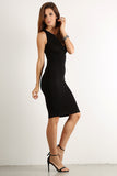 Seductive Shoelace Laced Up Back Midi Dress-2