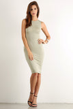 Seductive Shoelace Laced Up Back Midi Dress-8