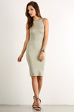 Seductive Shoelace Laced Up Back Midi Dress-9
