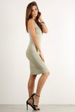 Seductive Shoelace Laced Up Back Midi Dress-11