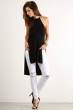 Draped Back Drop X Cross Back Hi Lo Top-4