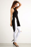 Draped Back Drop X Cross Back Hi Lo Top-5