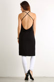 Draped Back Drop X Cross Back Hi Lo Top-1