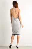 Draped Back Drop X Cross Back Hi Lo Top-11