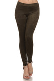 Sabrina - Faux Suede Full Length Leggings