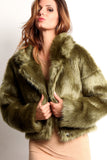 Green Faux Fur Jacket-4