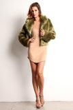 Green Faux Fur Jacket-2