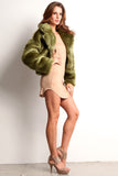 Green Faux Fur Jacket-1