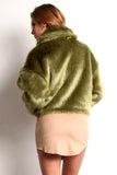 Green Faux Fur Jacket-5