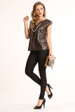 Faux Leather Boxy Top-5