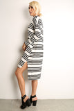Sailor Striped Scooped Short Dress-3