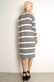 Sailor Striped Scooped Short Dress-4