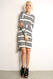 Sailor Striped Scooped Short Dress-2
