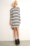 Sailor Striped Scooped Short Dress-1