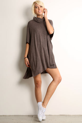 Turtleneck Poncho Style Top-1
