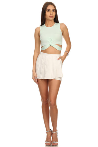 Mint Twist Body Crop Top-1