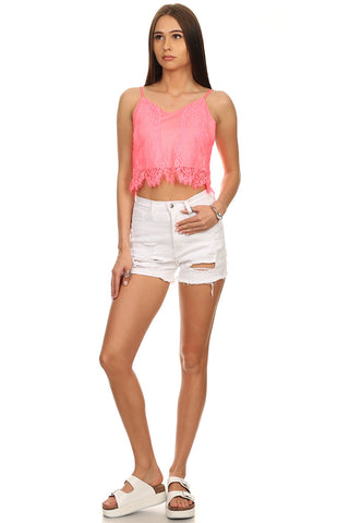 Lace Cropped Cami-1