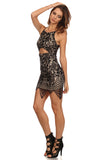 All Over Lace Mini Dress-2