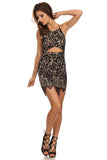 All Over Lace Mini Dress-5