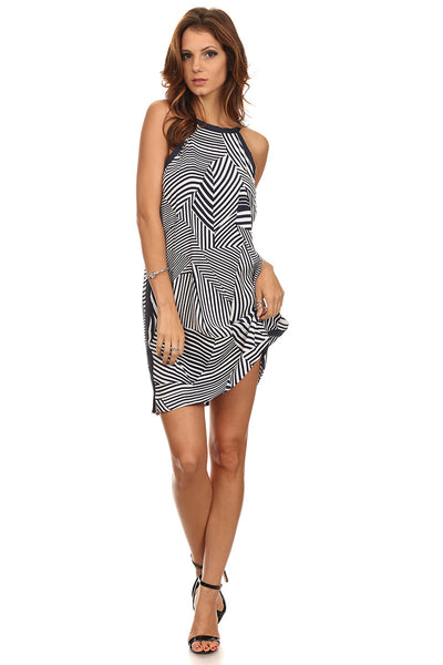 Abstract Lines Dress-8