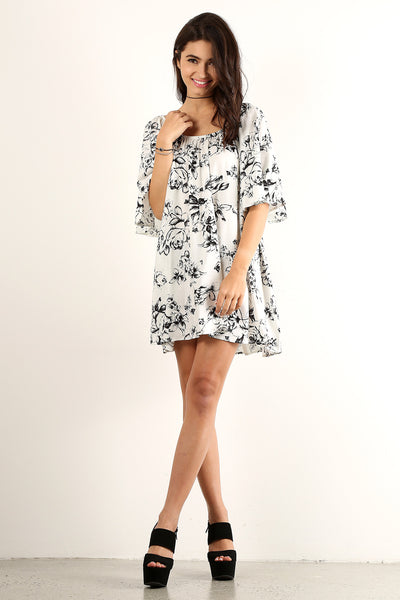Bathsheba - Angel Flared Oversized Fit Short Dress