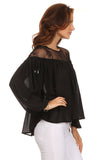 Peasant Blouse with Lace Yoke-4