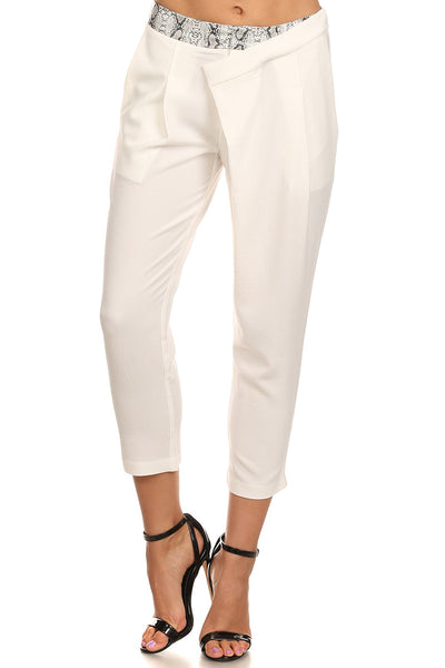 Cropped Pants with Python Trim-2