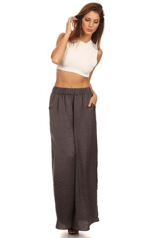 Grey Wide Leg Pants-1