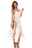 Macrame Fringe Beach Coverup Dress-2