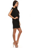 Little Black Asymmetrical Dress-2