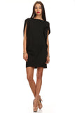 Little Black Asymmetrical Dress-4