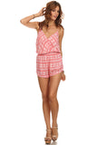 Tribal Pattern Surplice Front Romper-2