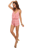 Tribal Pattern Surplice Front Romper-3