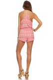 Tribal Pattern Surplice Front Romper-5