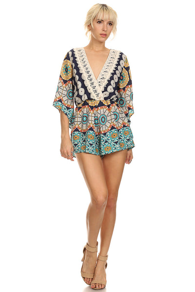 Tribal Abstract Print Romper-2