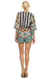 Tribal Abstract Print Romper-4